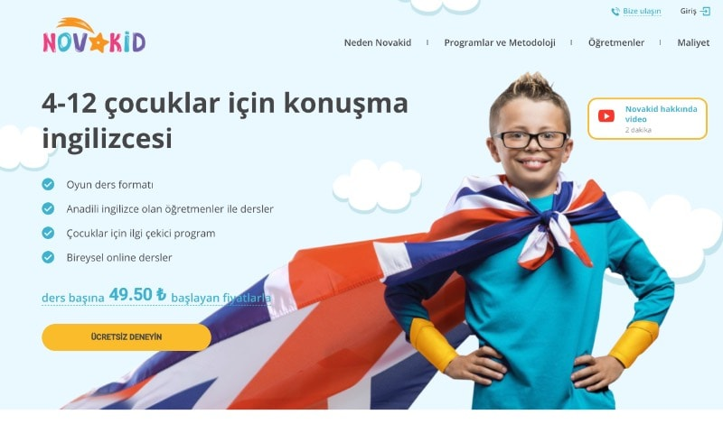novakid-web-sayfası